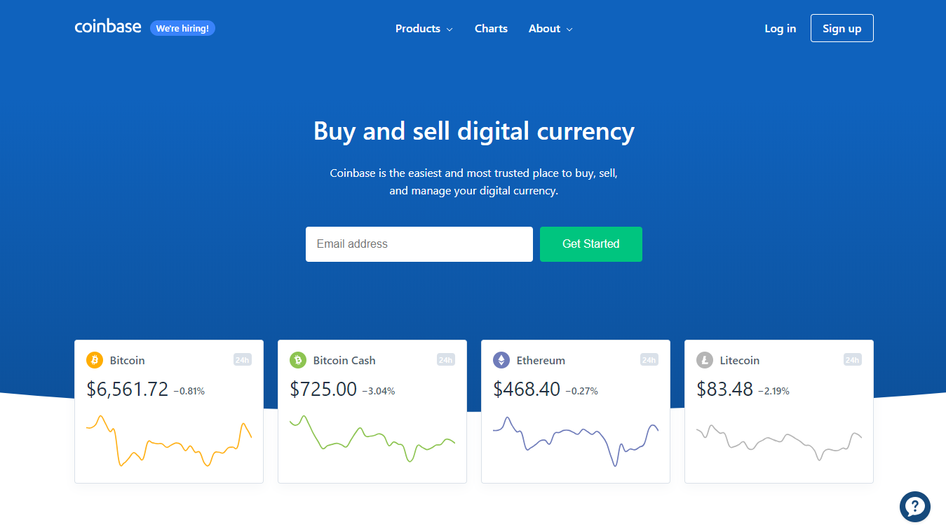 Coinbase digital currency platform