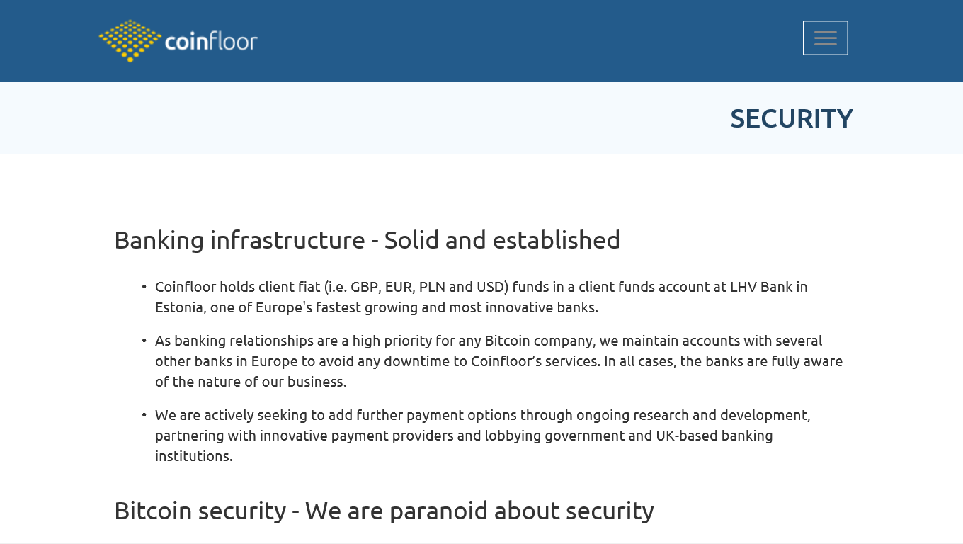 Coinfloor security