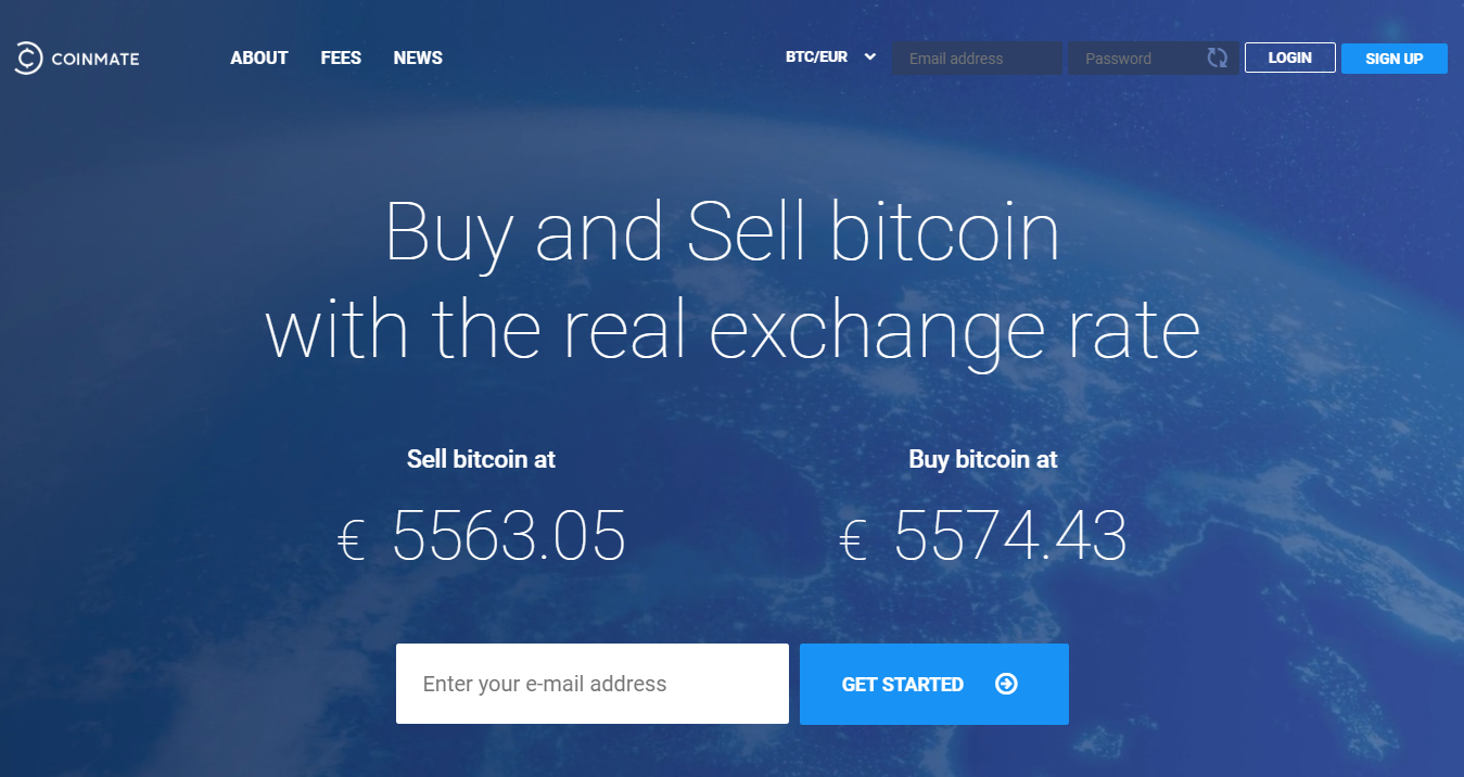 CoinMate European BTC exchange