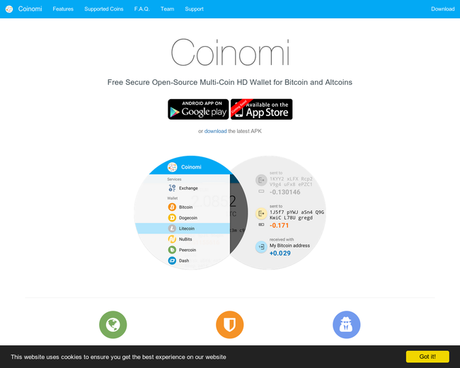 Coinomi open-source wallet