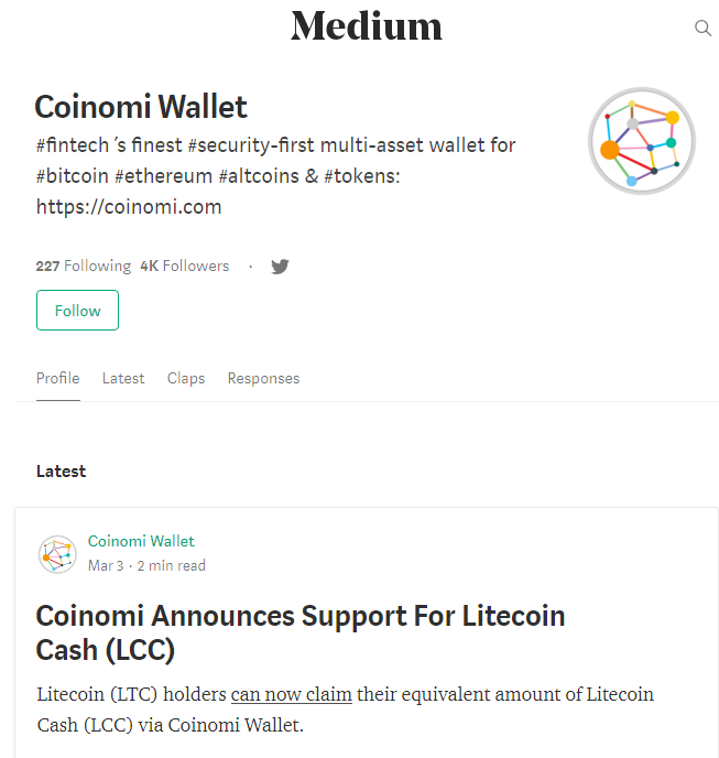 Coinomi wallet community