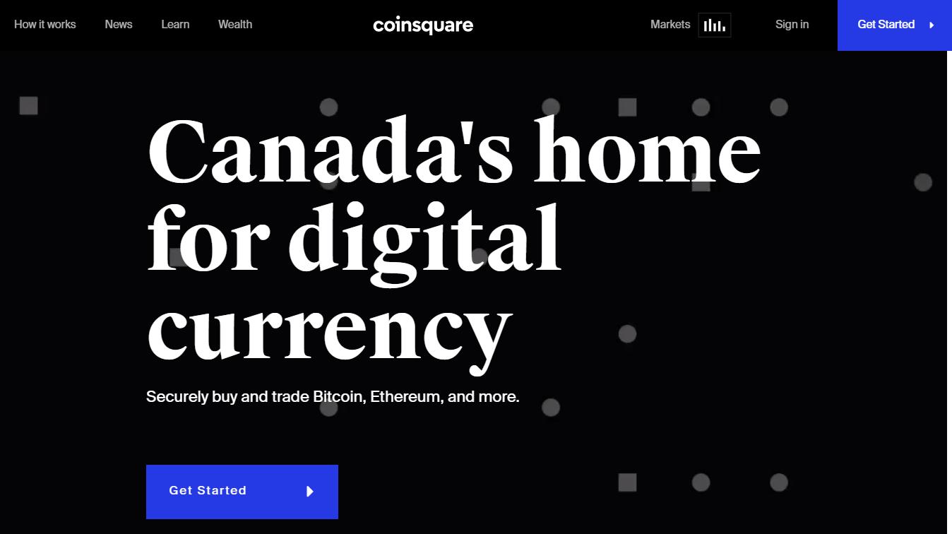 Coinsquare trading platform