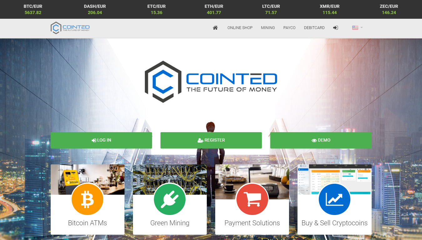 Cointed online exchange