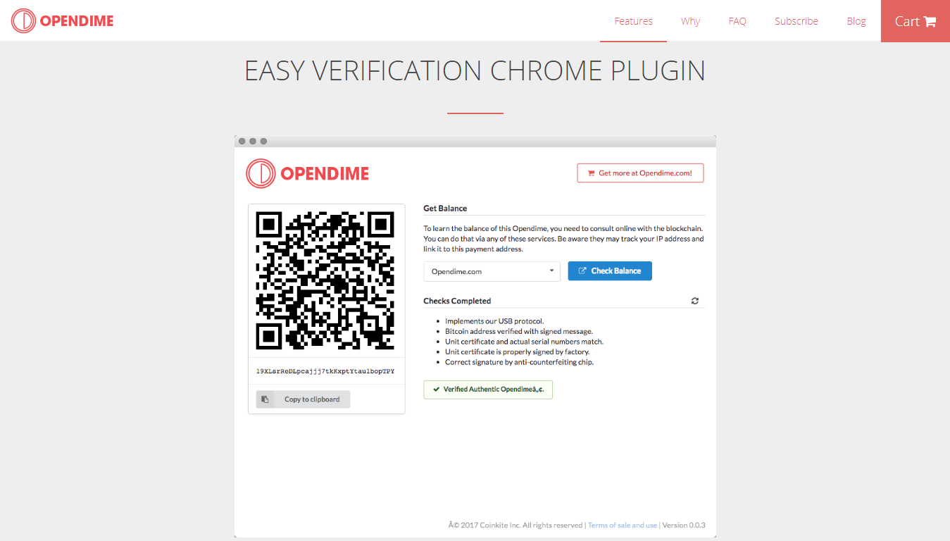 Easy verification Opendime plugin