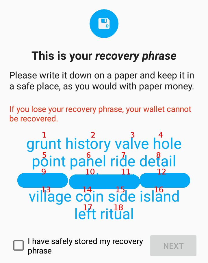 How to recover Coinomi wallet