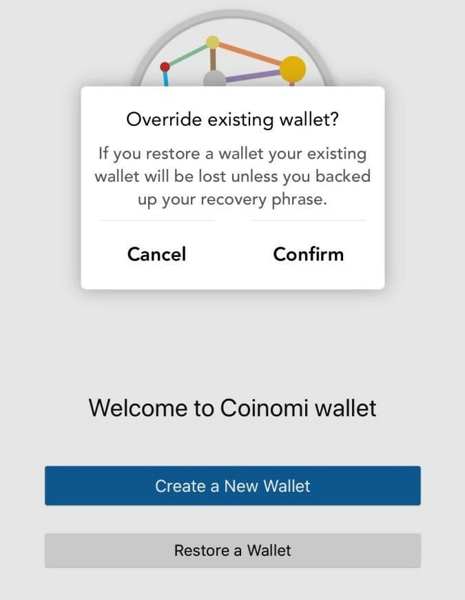 How to restore Coinomi wallet