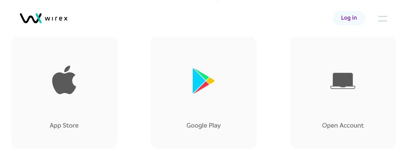 Install Wirex app