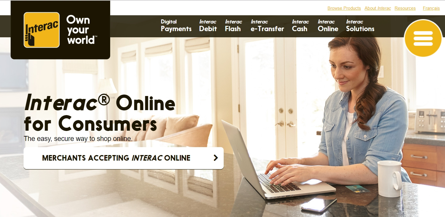 Interac official website