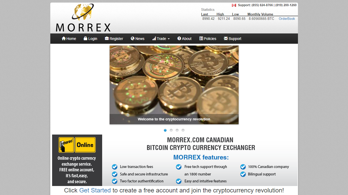 MORREX cryptocurrency exchanger
