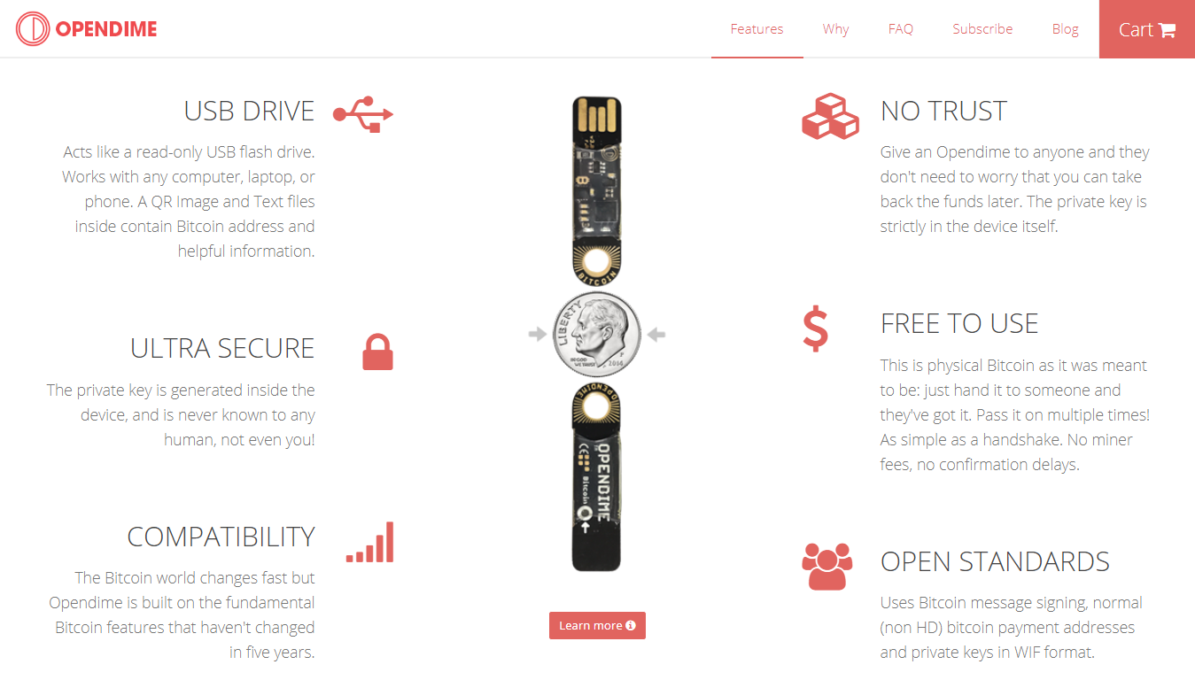 Opendime features