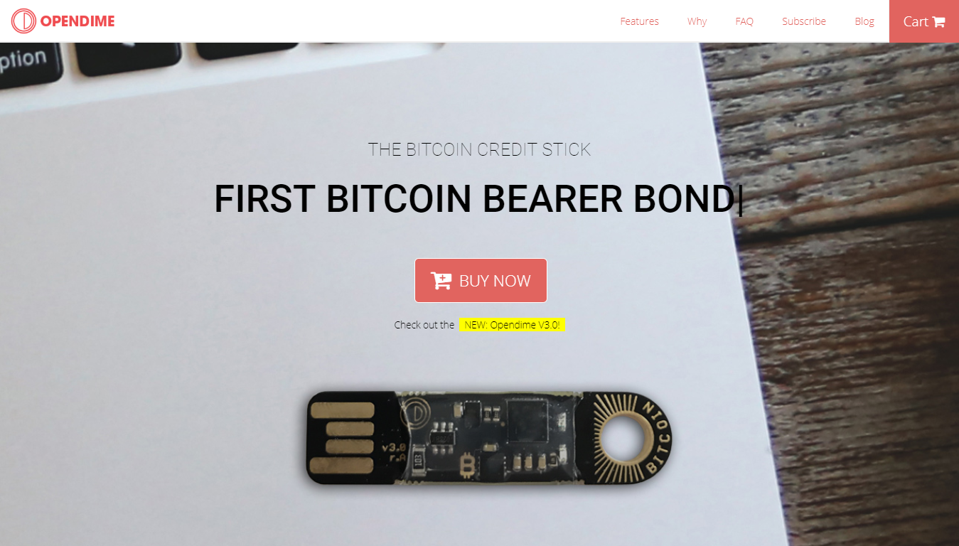 Opendime website