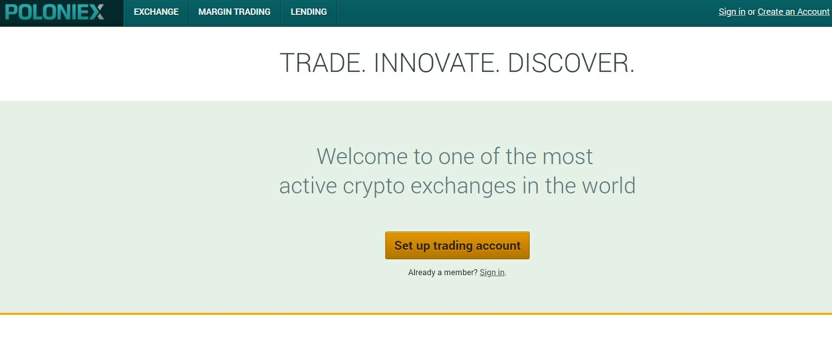 Poloniex website