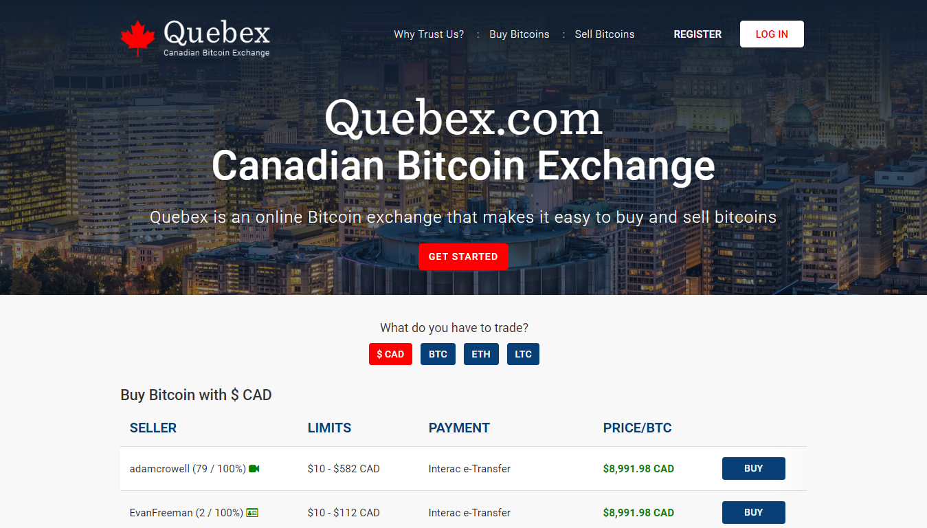 Quebex.com bitcoin exchange