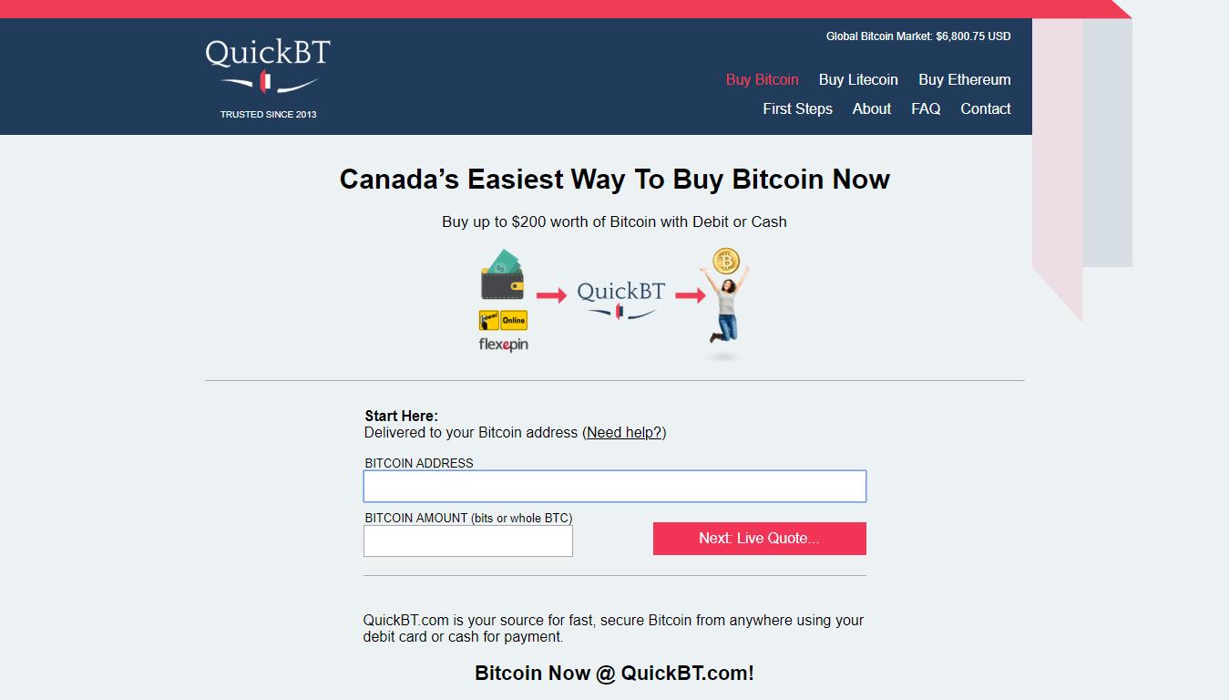 QuickBT bitcoin market