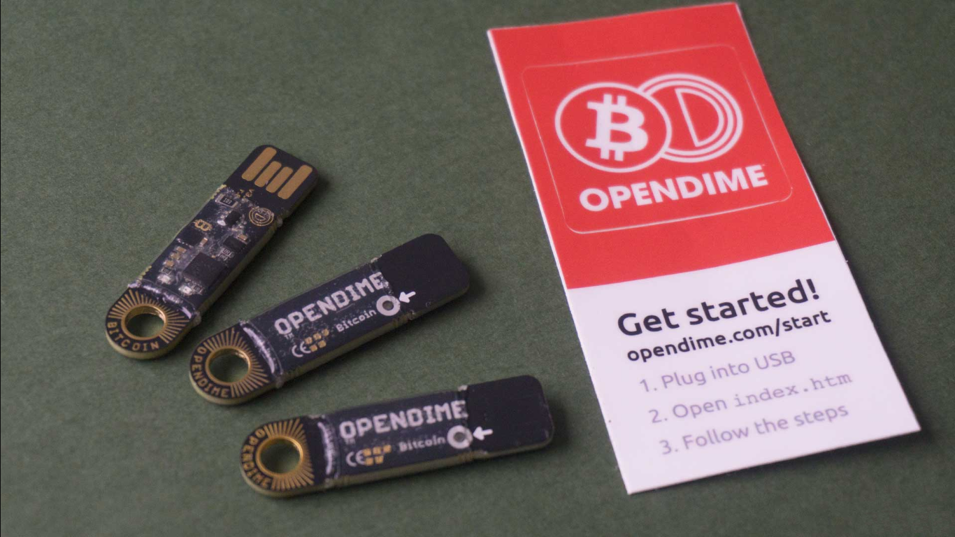 Start to use Opendime