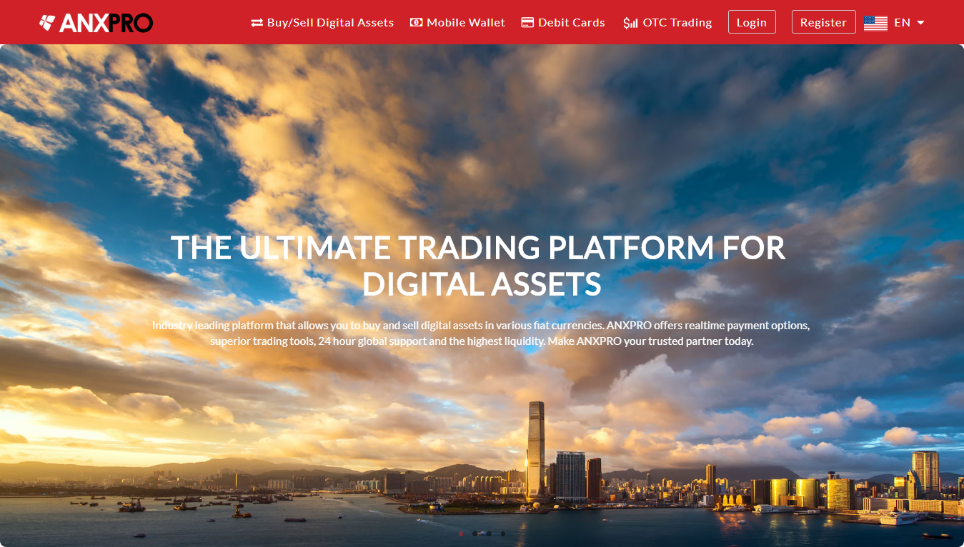 Trading platform ANXPRO for buying and selling bitcoins