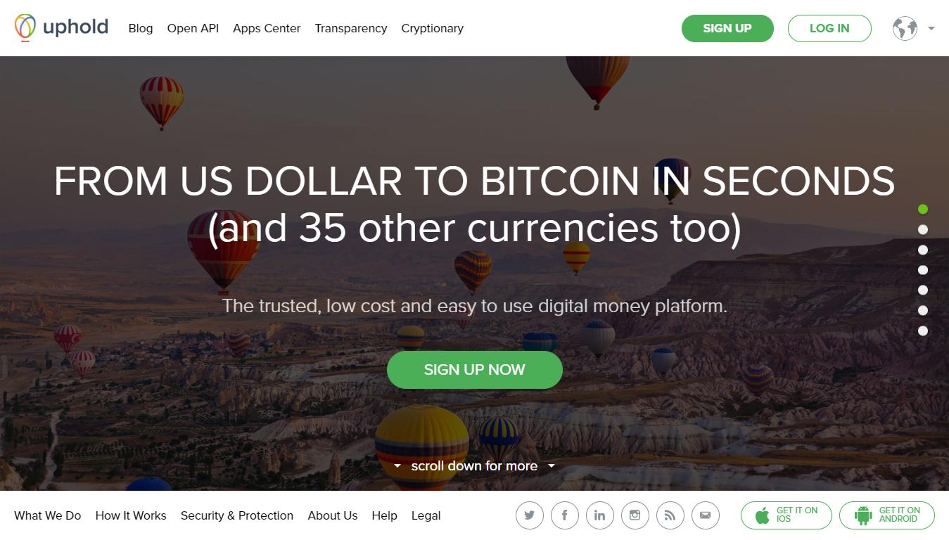 Uphold cloud based digital money platform