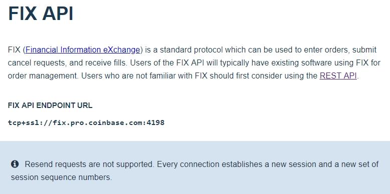 Coinbase Pro (GDAX) FIX API