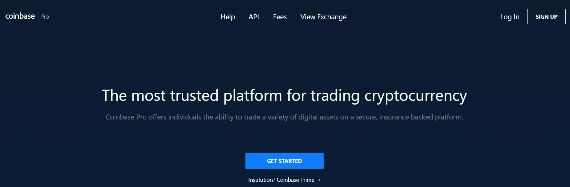 Coinbase Pro (GDAX) official website