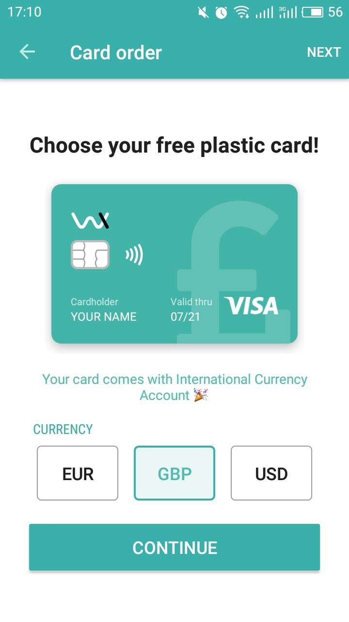 Order Wirex card