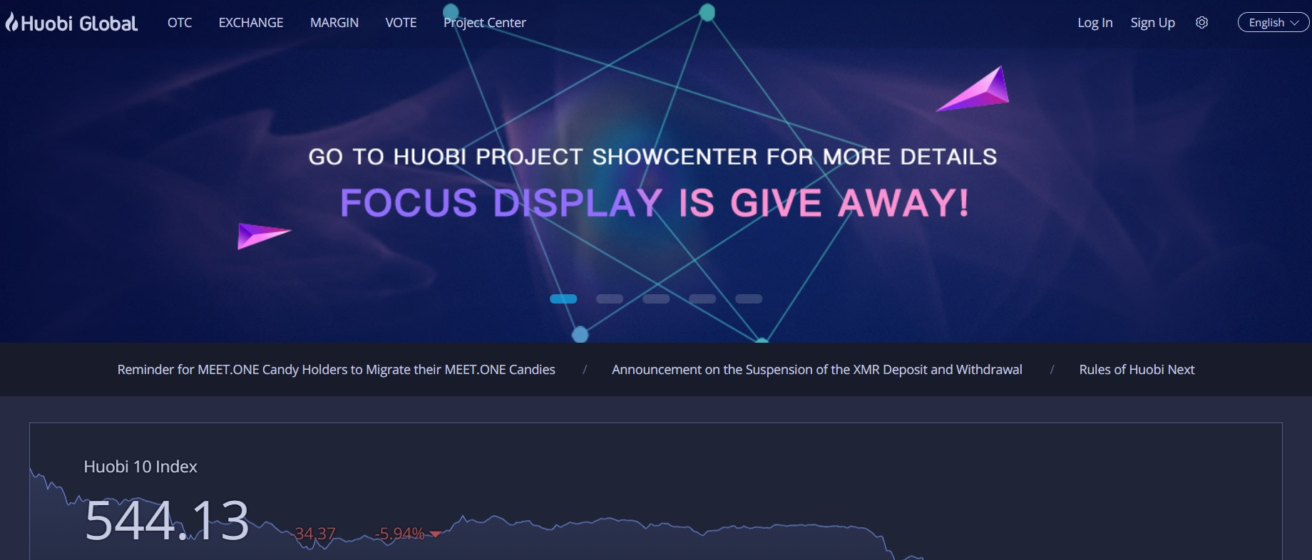 Huobi official website